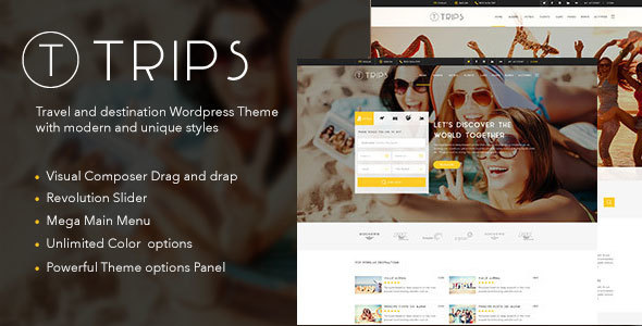 Trips | Travel Hotel Booking WordPress Theme