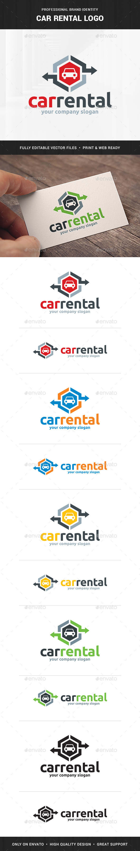 Car Rental Logo Template - Objects Logo Templates