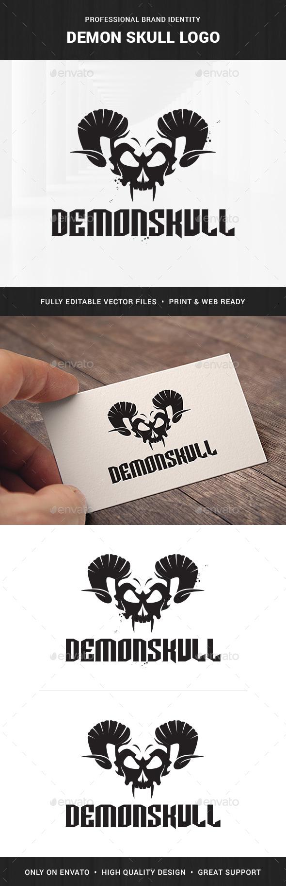 Demon Skull Logo Template - Abstract Logo Templates