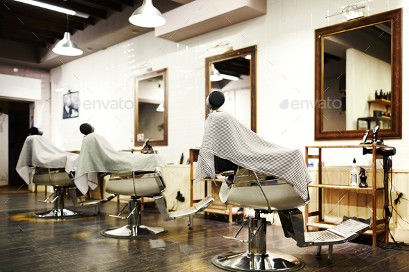 Empty barbershop - Stock Photo - Images