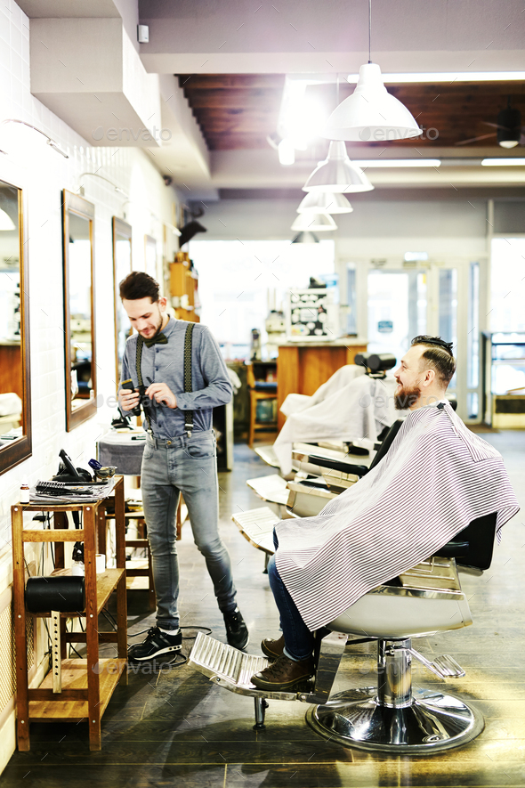 Barber at work - Stock Photo - Images