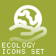 Environment & Ecology Outline Bold Icons - GraphicRiver Item for Sale