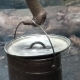 Old Camp Pot Hanging Over The Fire - VideoHive Item for Sale