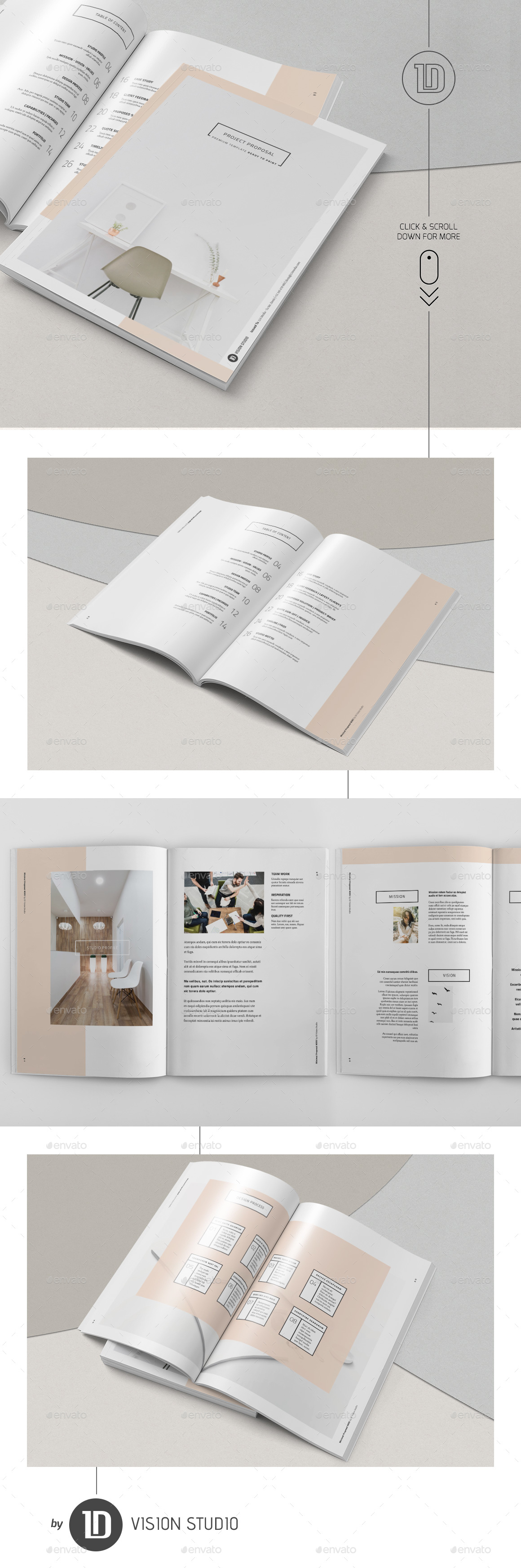Project Proposal Template 005 Minimalist by ID_Vision_Studio ...