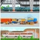 Rail Transport Horizontal Flat Banners