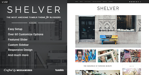Shelver - Responsive Blog Tumblr Theme