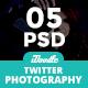 Photography Twitter Header - 05 PSD