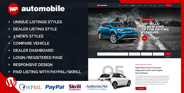 AutoMobile | Responsive Car Dealer WordPress Theme