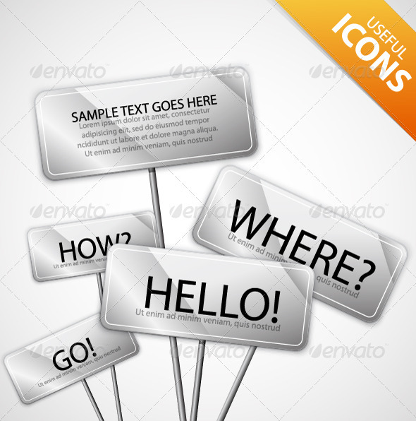 Metal Plate Signs and Messages - Communications Technology
