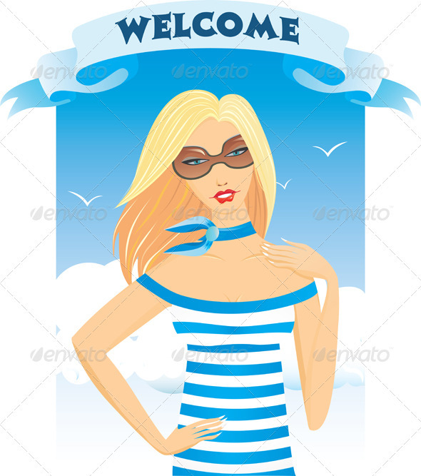 Girl Blonde Summer Welcome - People Characters