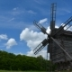 Old Windmill And Floating Clouds - VideoHive Item for Sale