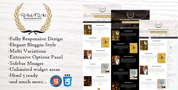 Ramadan - Dynamic WordPress Theme - Blog / Magazine WordPress