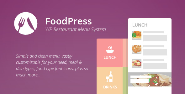 foodpress - Restaurant Menu & Reservation Plugin - CodeCanyon Item for Sale