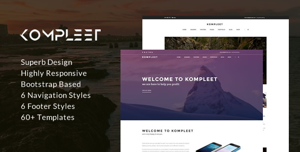 Kompleet – Creative & Flexible Responsive Multipurpose Template