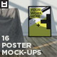 16 Realistic Poster Mock-Ups Vol.1 - GraphicRiver Item for Sale