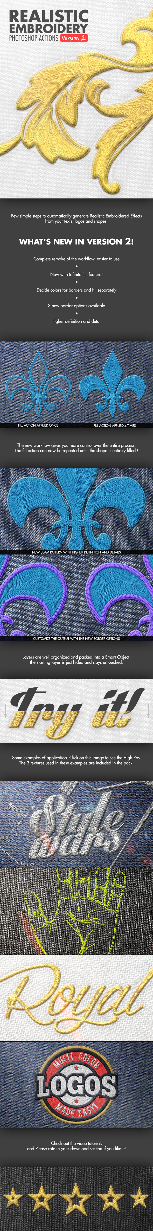 Realistic Embroidery - Photoshop Actions - Utilities Actions