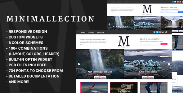 Minimallection – Responsive Minimal Blog Theme