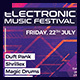 Electro Music DJ Minimal Party Flyer Template - GraphicRiver Item for Sale