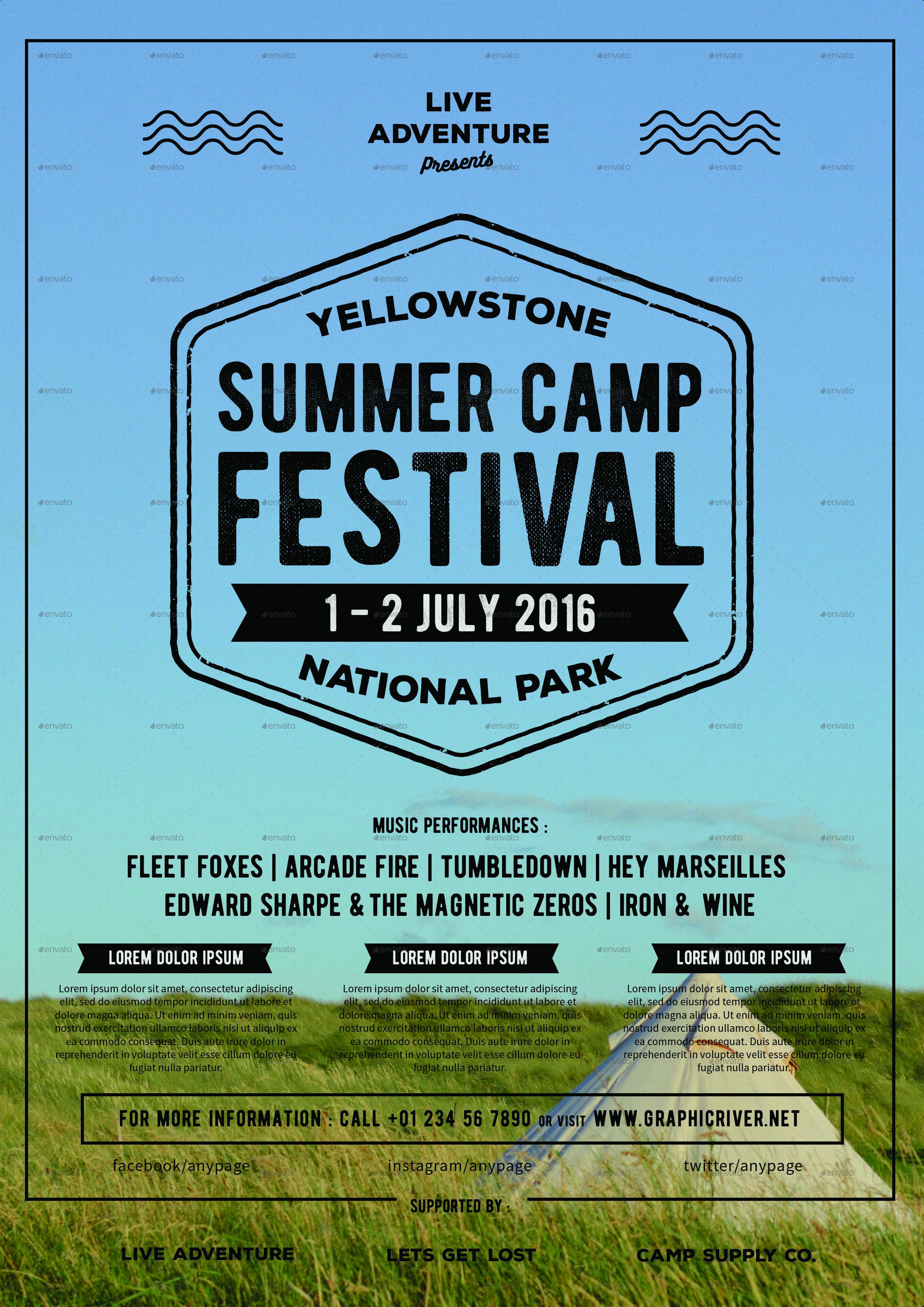 Summer Camp Flyer by dsc_studio | GraphicRiver