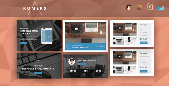 Romeks - Responsive Email + StampReady Builder - Newsletters Email Templates