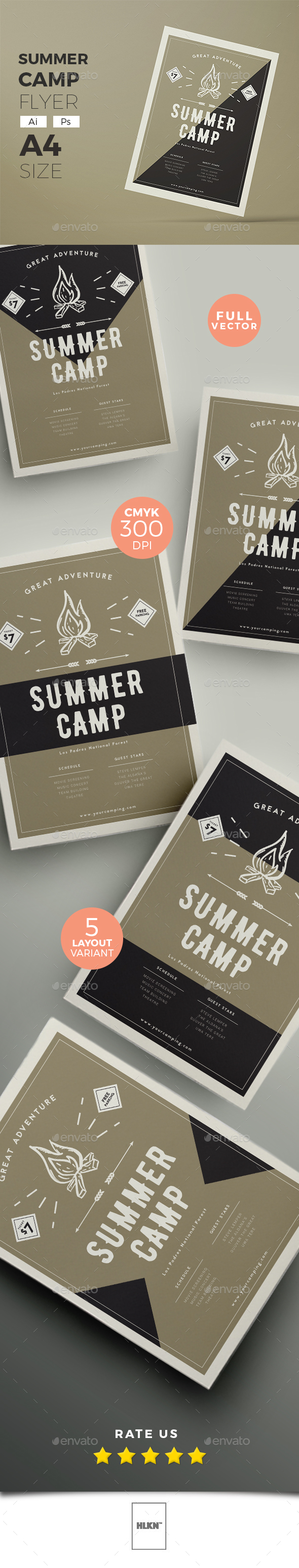 5 in 1 Summer Camp Flyer