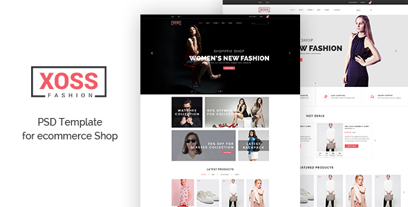 XOSS - eCommerce psd Template - Fashion Retail