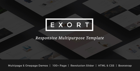 Exort - Responsive Multipurpose HTML Template - Creative Site Templates