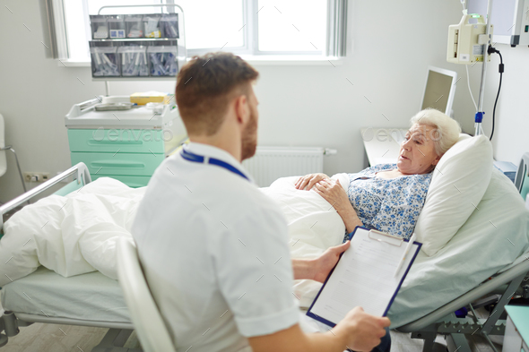 Senior woman in hospital - Stock Photo - Images