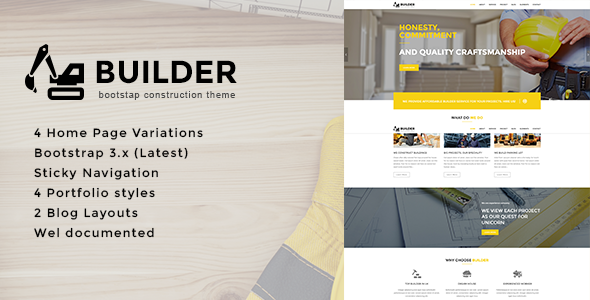 Builder – Bootstrap Construction Theme