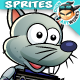 Rat Warrior Game Character Sprites 227 - GraphicRiver Item for Sale