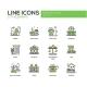 City Elements - Line Design Icons Set - GraphicRiver Item for Sale