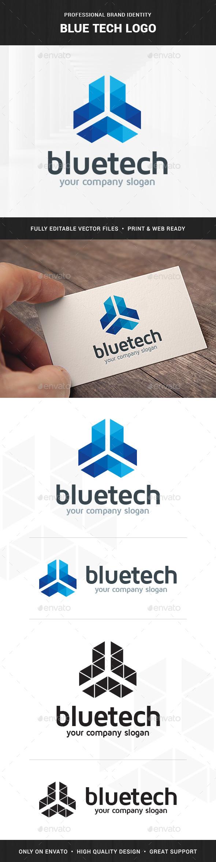 Blue Tech Logo Template  - Abstract Logo Templates