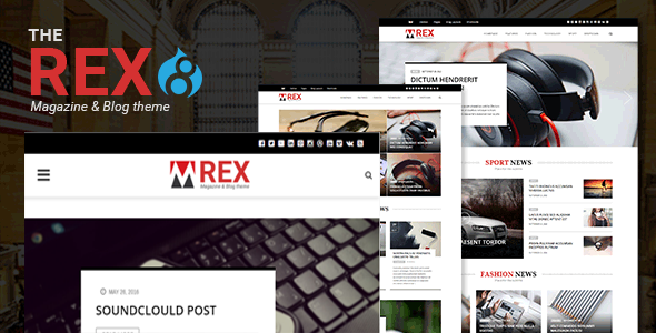 The REX - Drupal 8 Magazine and Blog Theme - Blog / Magazine Drupal