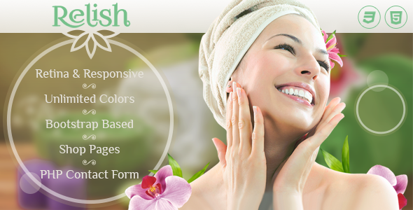 Relish - Spa Salon HTML Template - Health & Beauty Retail