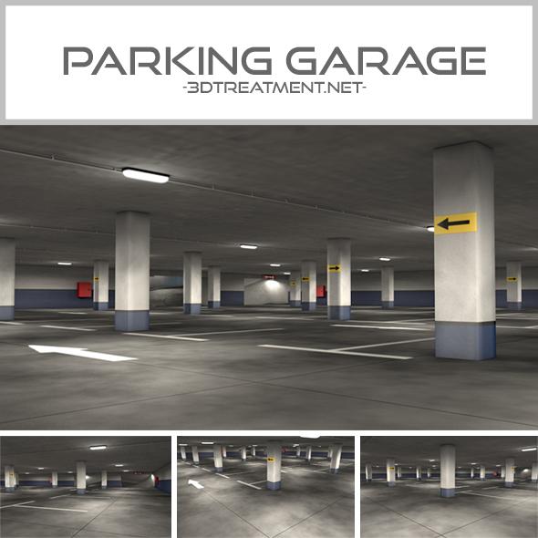 Parking Garage - 3DOcean Item for Sale