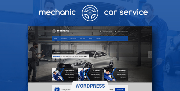Mechanic Car Service Workshop Wordpress Theme By Premiumlayers