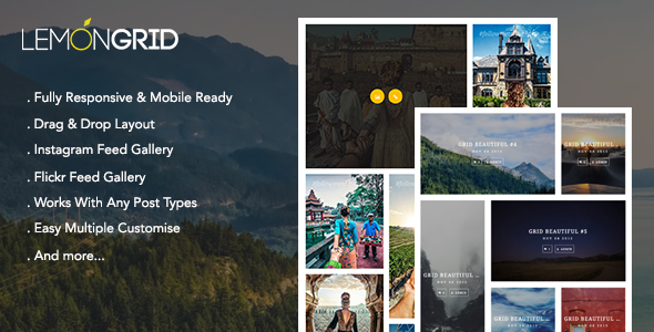 Lemon Grid - Responsive & Drag-drop Add-on VC - CodeCanyon Item for Sale