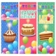 Festive Colorful Celebrations Vertical Banners Set