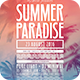 Summer Paradise Flyer - GraphicRiver Item for Sale
