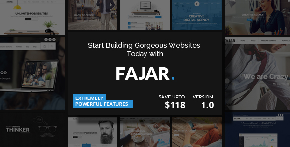 Fajar – Creative Multiuse WordPress Theme