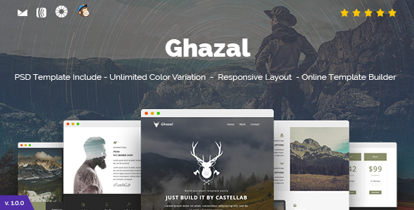 Ghazal - Responsive Email and Newsletter Template