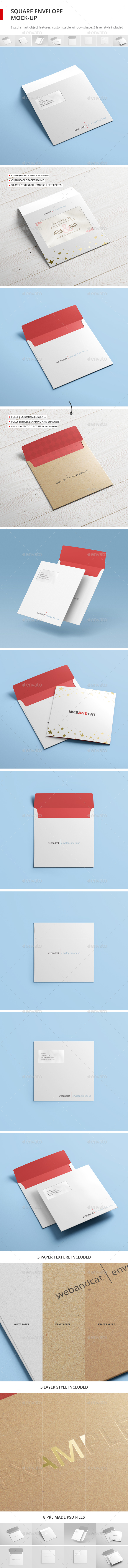 Square Envelope Mock-up - Stationery Print