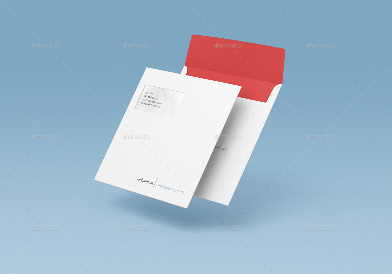 Square Envelope Mock Up By Webandcat Graphicriver
