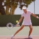 Young Woman Playing a Game Of Tennis - VideoHive Item for Sale