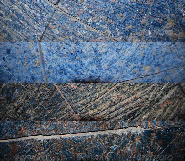 Blue Tiles - Stone Textures