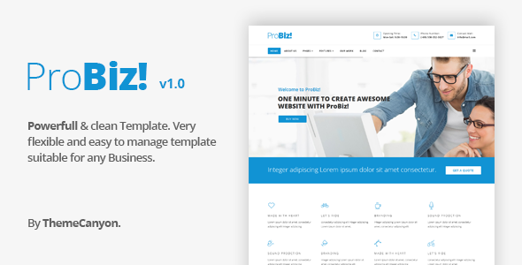 ProBiz! – Multipurpose Business HTML5 Template
