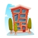 Office Building Cartoon Concept - GraphicRiver Item for Sale