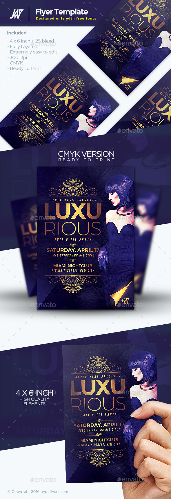 Luxurious Elegant Flyer Template By 1jaykey Graphicriver