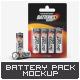 Battery Blister Pack Mock-Up - GraphicRiver Item for Sale