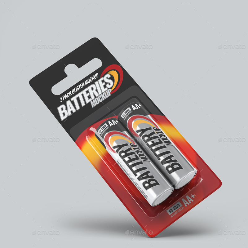 Battery Blister Pack Mock-Up by L5Design | GraphicRiver
